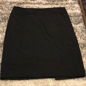 Black pencil skirt with dark gray lines